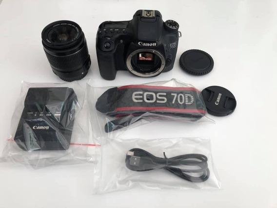 Câmera Canon Eos 70d + Lente 18-55 Frete Grátis! Lindissima