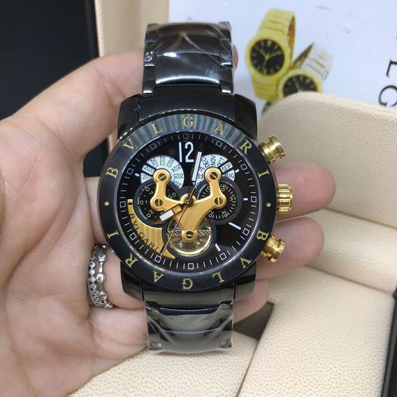 Relógio Masculino Bv Hybrid Preto Automatico Black Em Aço
