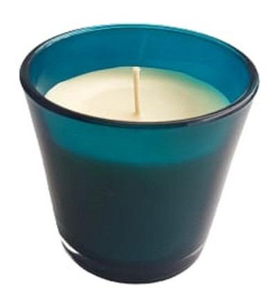 Imagem 1 de 1 de Vela Vegetal Aroma Capim-limão - Azul - Bendita Vela