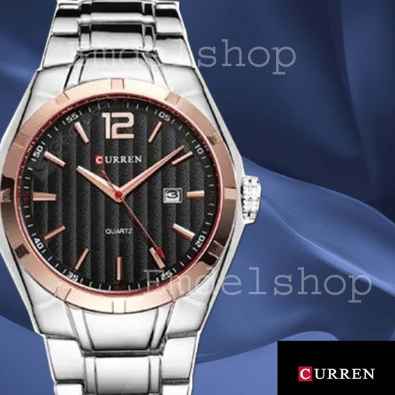 Relógio Curren Original Masculino - Aço Inox - Promoção