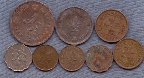 Hong Kong 1950 - 1998 * 8 Monedas * Oferta!!!