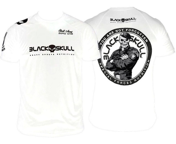 Camiseta Bope Dry Fit - Black Skull