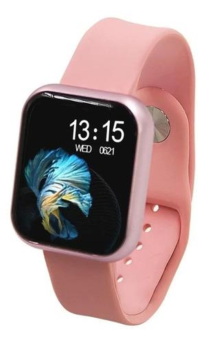 """Imagem 1 de 1 de Smartwatch Haiz T80 1.3"""" caixa de  aço inoxidável  rosa pulseira  rosa"""