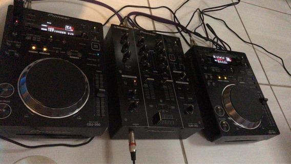 Kit Dj Pioneer Cdj + Mixer Djm
