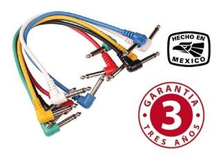 6 Cables Para Parcheo Guitarra Pedales Certificados Iso 9000