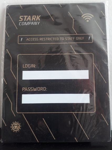 Placa Decorativa Stark Company - Senha - Exclusivo Nerd Loot