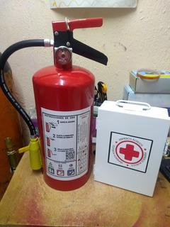 Extintor 4.5 Kg Pqs Certificado Y Botiquin Primeros Auxilios
