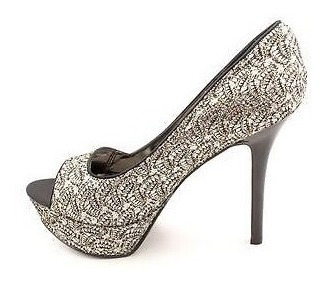 Zapatos De Fiesta Negro Con Brillos Plata Carlos Santana