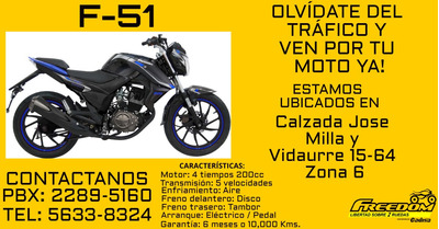 Freedom, F-51, Cadisa, Motos, Agencia De Motos