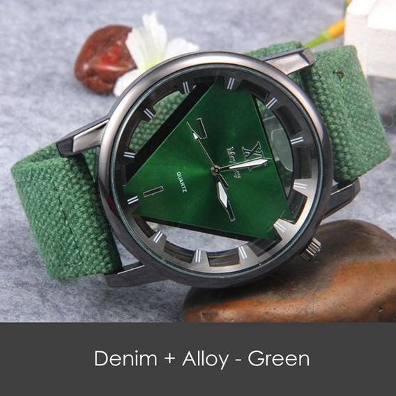 Relógio Denim Quartz Alloy - Verde- Analógico