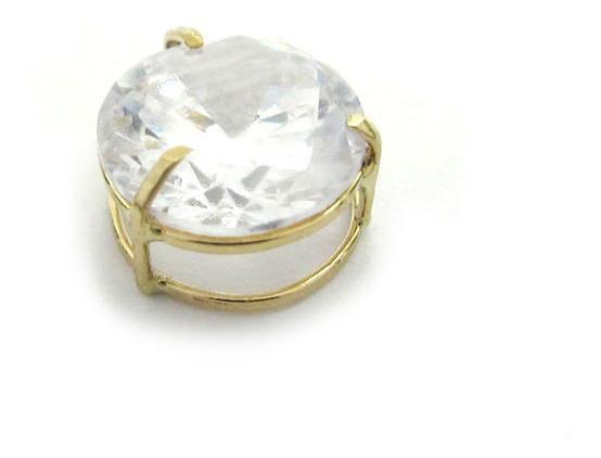 Joianete E9015-10351 Pingente Ouro Ponto De Luz Pedra Branca