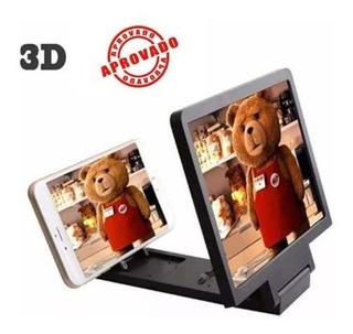 5 X 2 Lente 3d Projetor Amplia Imagem Celulares Smartphone