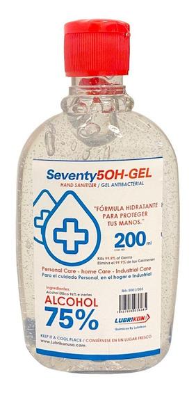 Gel Antibacterial 75% De Alcohol 200 Ml Lubrikon