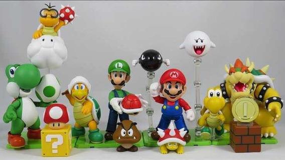 Coleção Super Mario Bandai Figuarts Playsets A A E