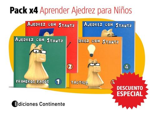 Pack Oferta 4 Libros Aprender Ajedrez Para Niños Con Stauty