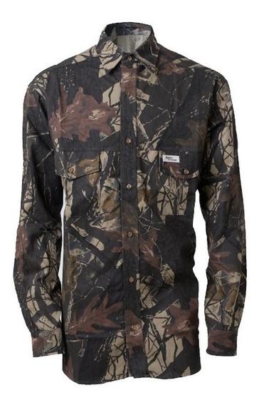 Camisa Manga Larga Camuflada 3d Seco Campinox 100% Algodon
