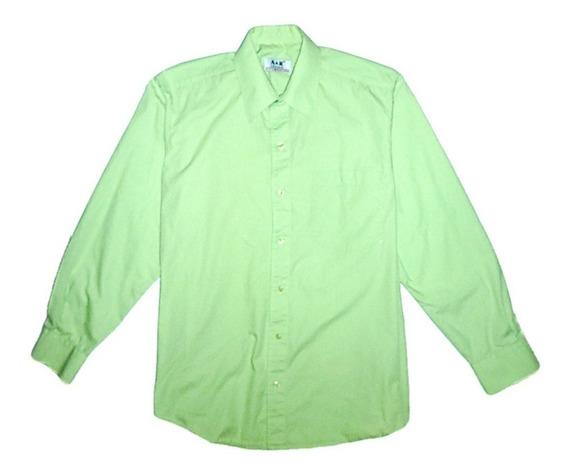 Camisa Manga Larga Verde Claro Unicolor Aceptamos Pago Movil