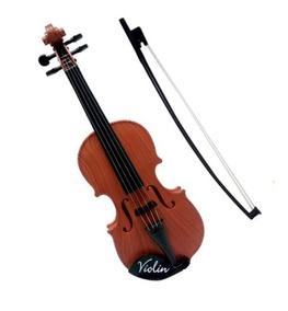Mini Violino Infantil Acustico Com 4 Cordas E Arco Iniciante