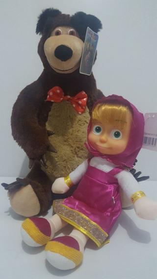 Boneca Masha E O Urso Pelúcia Brinquedos Musicais