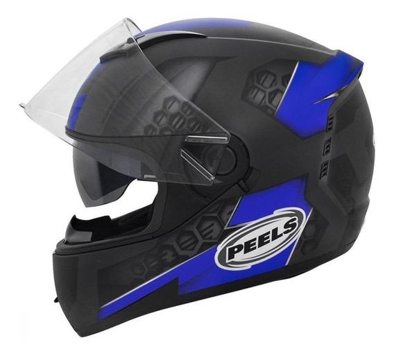 Capacete para moto Peels Icon Dash preto/azulM