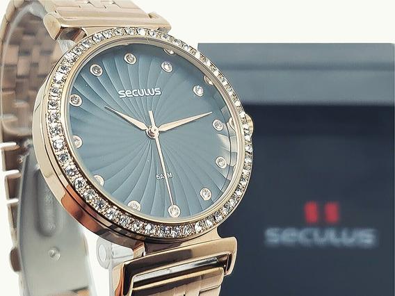 Relógio Feminino Seculus Rosé Garantia De 2 Anos
