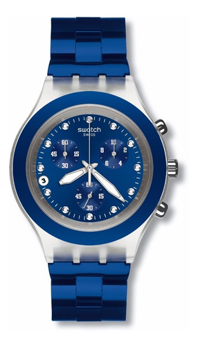 Relógio Swatch Full Blooded Navy Svck4055ag
