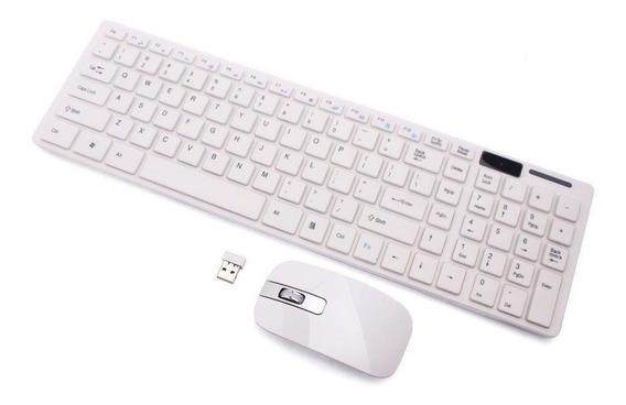 Teclado E Mouse Sem Fio Via Wireless 2.4ghz - Plugx K-06