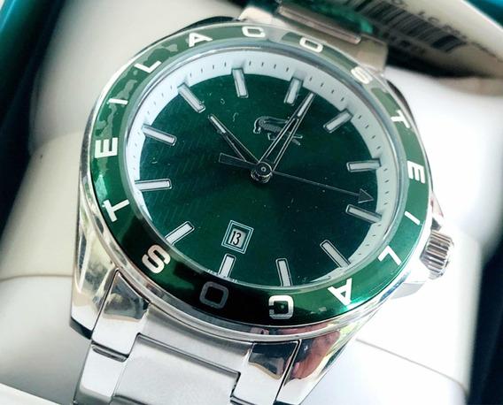 Reloj Lacoste Original Para Hombre Acero Color Verde 2 Mod