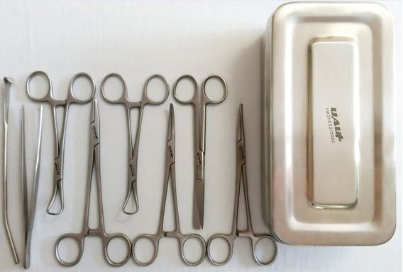 Kit Cirúrgico Completo Para Castração 9 Peças Frete Gratis