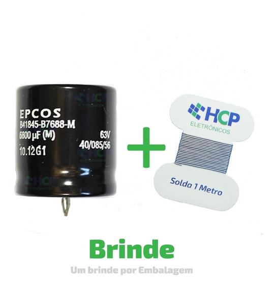 Capacitor Eletrolítico 6800uf 63v *6.800uf Epcos Promoção