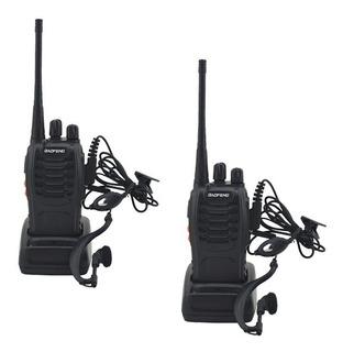 Par Radio Comunicador Prof 16 Canais+2 Fones +2 Carregadores