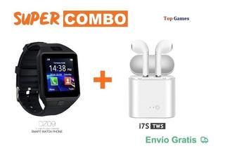 Super Combo Smartwatch Dz09 Con Auriculares I7s Tws, Nuevos.