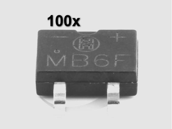 100x Mb6f Ponte Retificadora 600v Original Compatível Mb6s