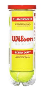 Tubo X3 Pelotas Wilson Regular Duty Tenis Profesional El Rey