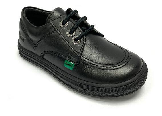Zapatos Colegiales Kickers Niño Negro Ki 0001 Corpez 44