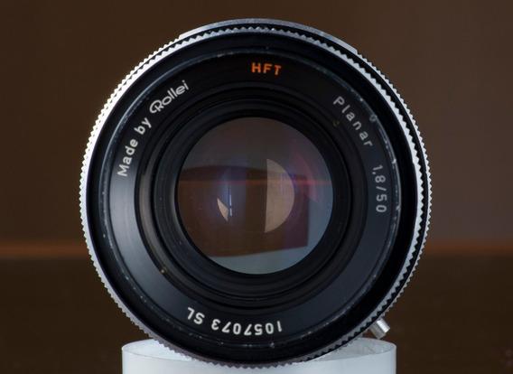 Lente Zeiss Planar By Rollei 50mm 1.8 Com Adaptador P Sony E