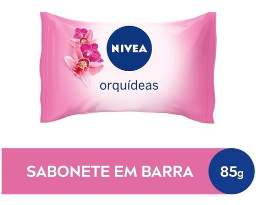 Sabonete Em Barra Hidratante Nivea Orquídeas 85g