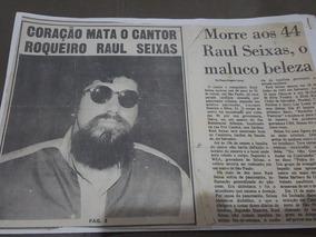 Recorte De Jornais Da Morte Do Raul Seixas