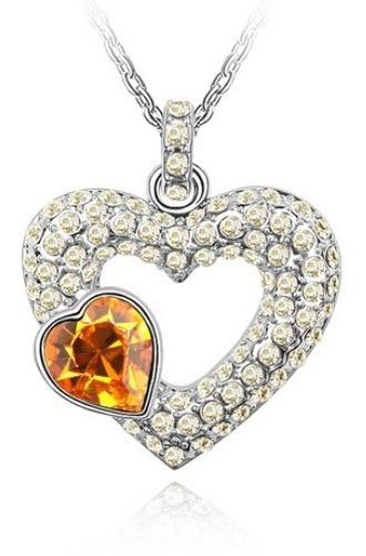 Dije Con Cristales Ocean Heart Oh16-76 Baño De Oro