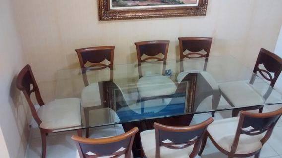 Mesa De Jantar Em Madeira E Vidro