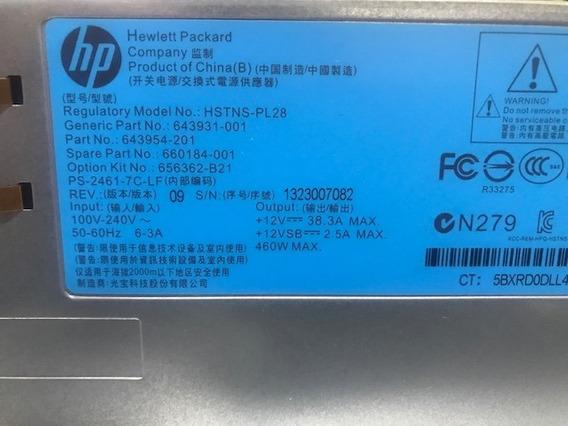 Fonte De Alimentação Hp Power Supply 460w Pn/346961-001