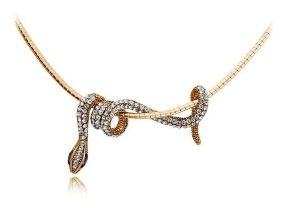 Gargantilla Collar Con Dije De Serpiente.