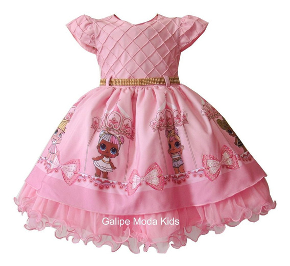 Vestido Lol Luxo Infantil Tamanhos 1 Ao 3