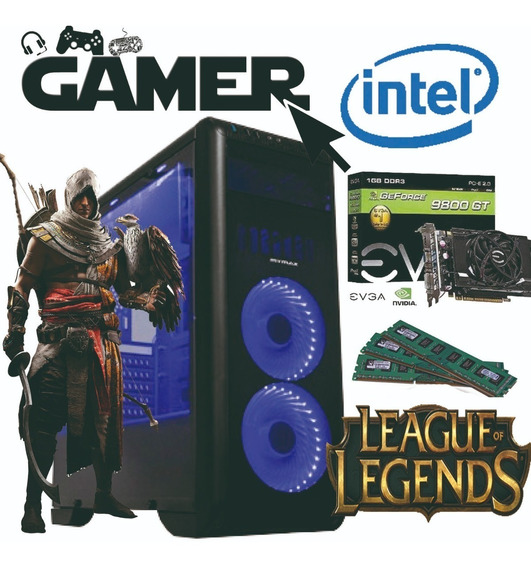 Pc Gamer Completo 9800gt + 500gb Hd +6gb Memória