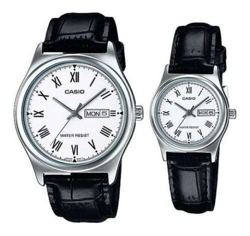 Reloj Pareja Casio Cuero Ltp-v006l-7b Mtp-v006l-7b Original