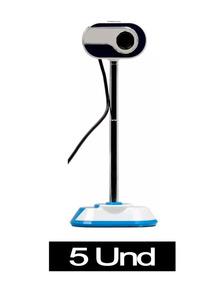 Kit 5 Webcam Ms-830 10mp Usb 2.0 C/microfone