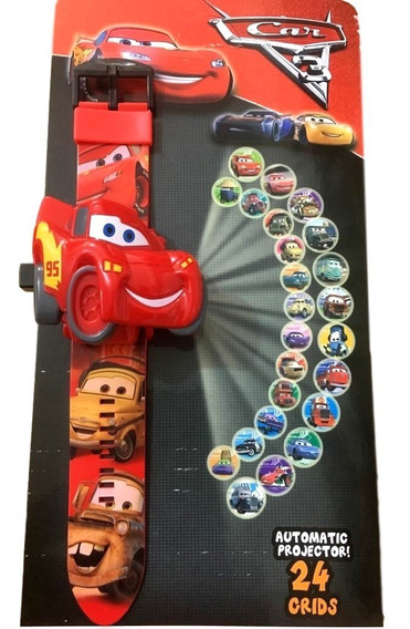 Relógio Infantil Carros 3 Projetor Imagem 24 Grids