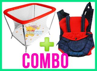 Combo Corralito Para Bebe + Plegable + Mochila