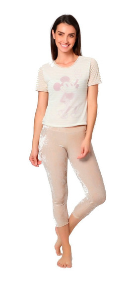Pijama Para Mujer Disney Mickey Mouse Blusa Pescador 9247