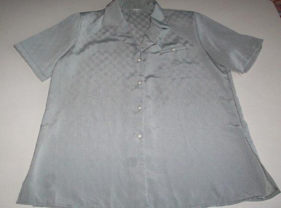 Camisa Verde Mangas Cortas